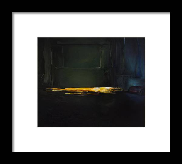 Interior Framed Print featuring the painting The Light Under The Door by Benjamin Roberts