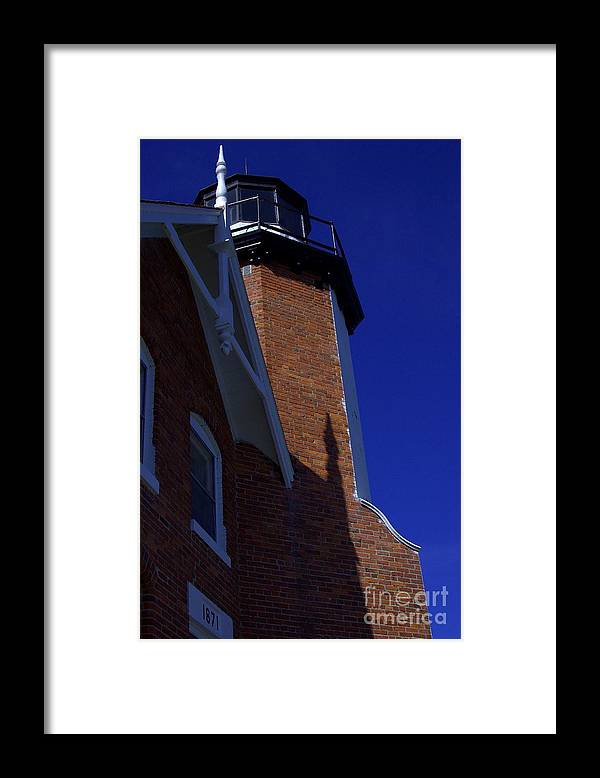 Lighthouse Framed Print featuring the photograph The Lighthouse Blues by The Stone Age