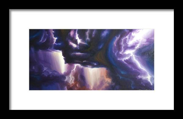 Tempest Framed Print featuring the painting The Lightning by James Christopher Hill