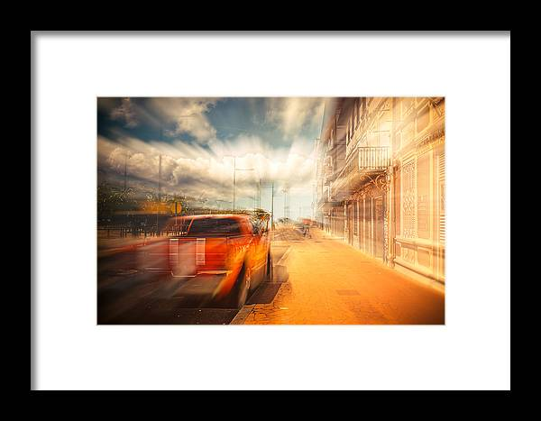 Art Framed Print featuring the photograph The Lightspeed by Radek Spanninger