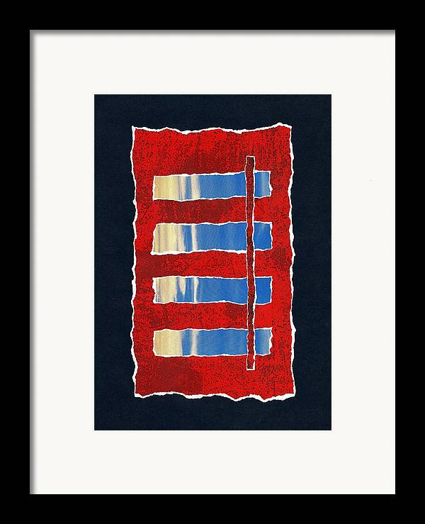 Paper Framed Print featuring the mixed media The Limit by Dolly Mohr