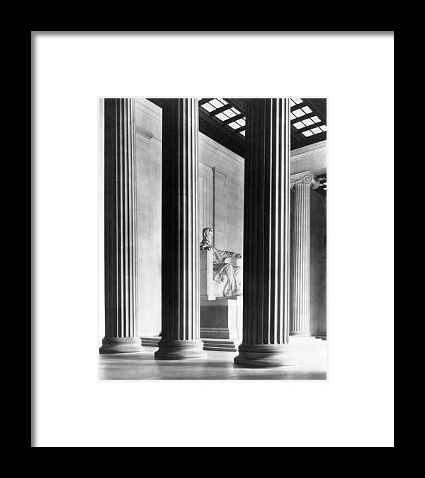 Lincoln Memorial Framed Print featuring the photograph The Lincoln Memorial by War Is Hell Store