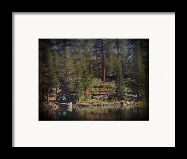 Cabin Framed Print featuring the photograph The Little Cabin by Laurie Search