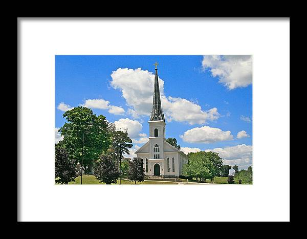 Usa Framed Print featuring the photograph The Little Country Church by Robert Pearson