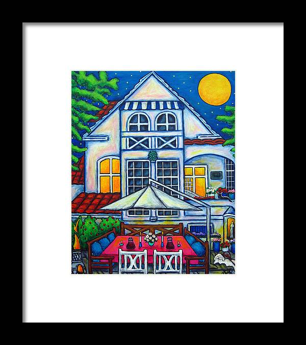 Denmark Framed Print featuring the painting The Little Festive Danish House by Lisa Lorenz