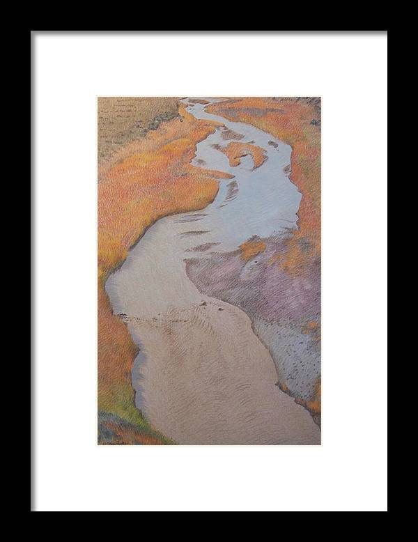 North Dakota Framed Print featuring the pastel The Little Mo by Cris Fulton
