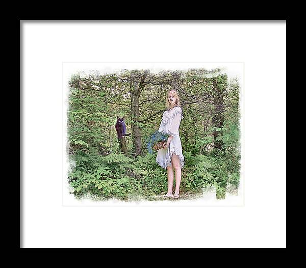 Young Woman Framed Print featuring the photograph The Lobelia Basket by Rose Guay