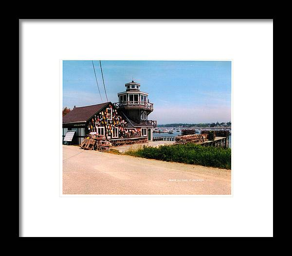 Docks Framed Print featuring the photograph The Lobster Dock I by Carl Jackson