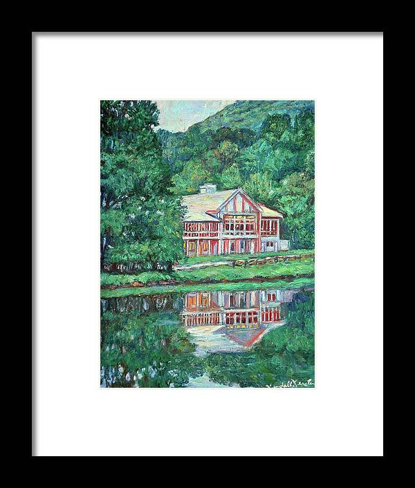 Lodge Paintings Framed Print featuring the painting The Lodge At Peaks Of Otter by Kendall Kessler