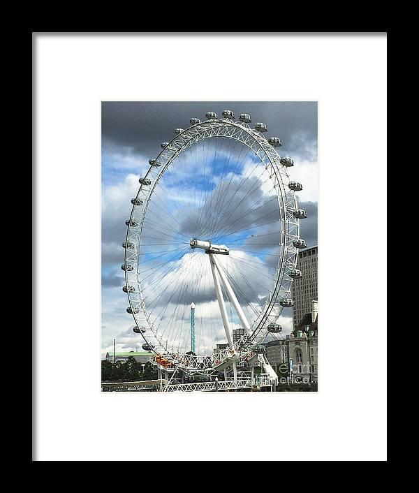 London Framed Print featuring the photograph The London Eye by Stephanie Hanson