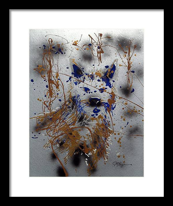 Impressionist Painting Framed Print featuring the mixed media The Lone Wolf Canis Lupus by J R Seymour