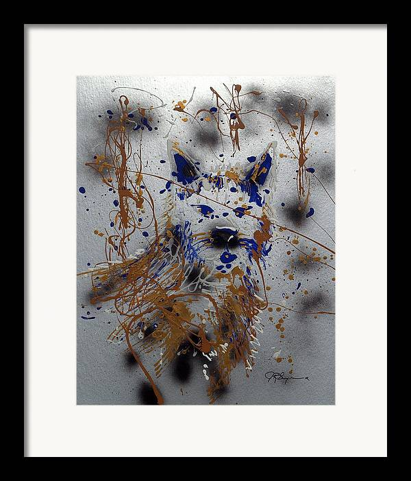 Wolf Framed Print featuring the mixed media The Lone Wolf Canis Lupus by J R Seymour