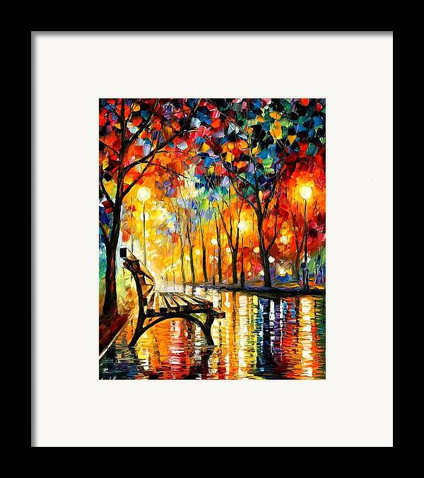 Afremov Framed Print featuring the painting The Loneliness Of Autumn by Leonid Afremov