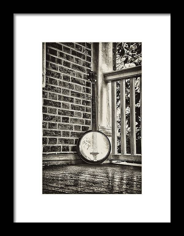 Banjo Framed Print featuring the photograph The Lonely Banjo by Bill Cannon