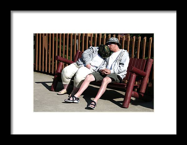 People Framed Print featuring the digital art The Long Day by Robert Sako