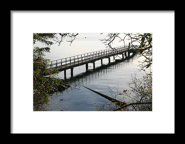 Water Framed Print featuring the photograph The Long Dock by Doug Johnson