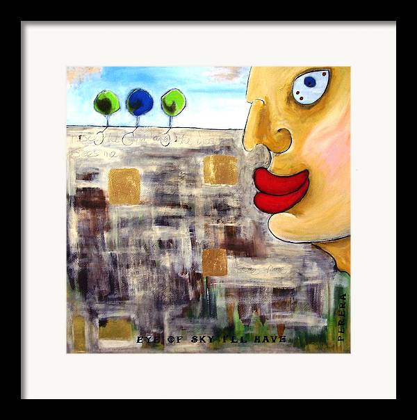 Contemporary Framed Print featuring the painting The Look by Maarten Perera