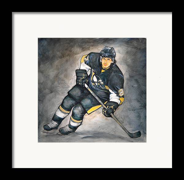 Oil Framed Print featuring the painting The Look Of A Champion by Erik Schutzman
