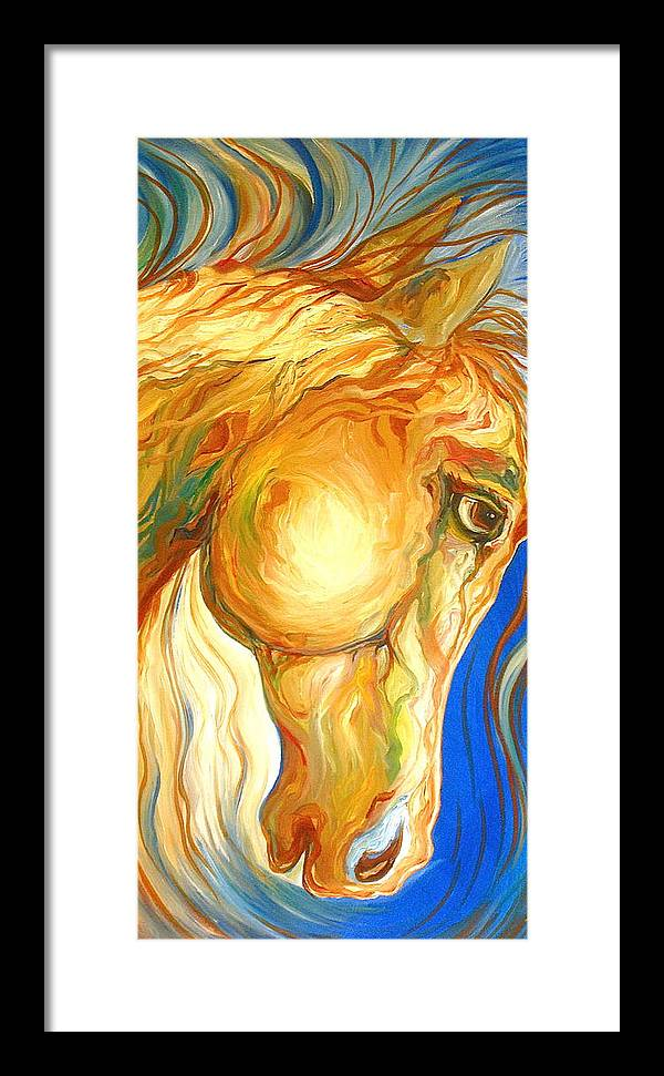 Equine Framed Print featuring the painting The Look by Rebecca Robinson