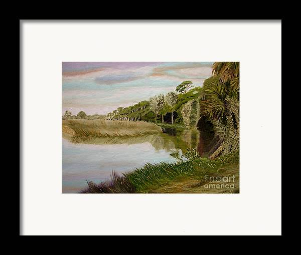 Landscape Framed Print featuring the painting The Loop by Sodi Griffin
