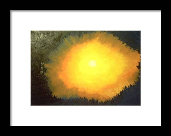 Sun Religious Framed Print featuring the painting The Lord Said Let There Be Light by Harris Gulko