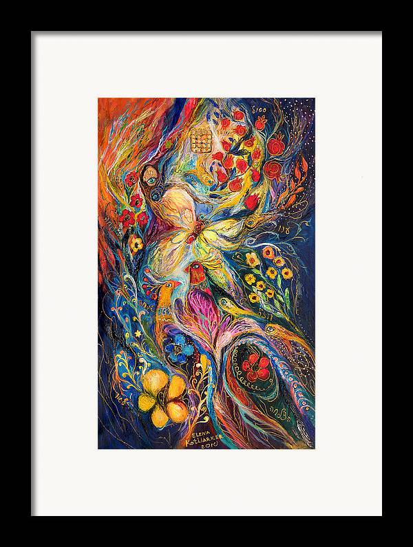 Original Framed Print featuring the painting The Love Story by Elena Kotliarker