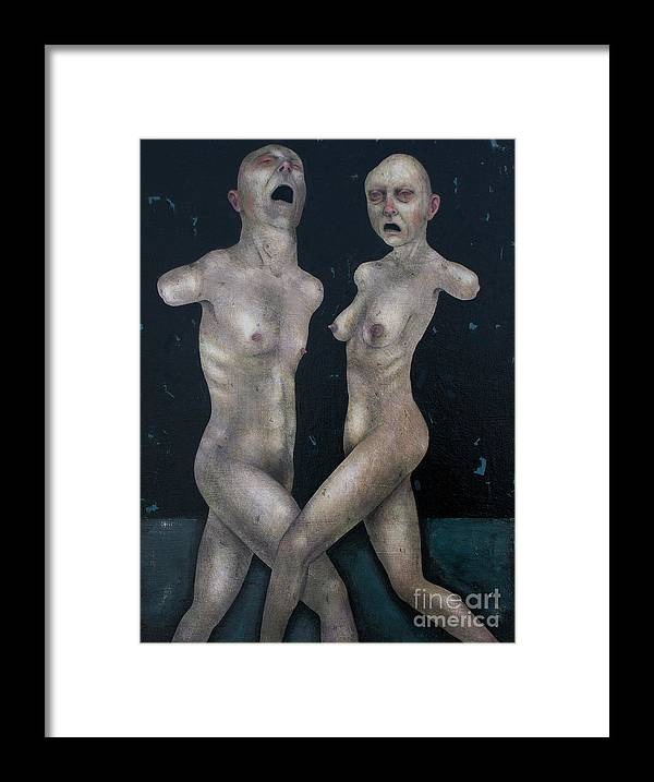Dancing Framed Print featuring the painting The Lovers by Craig LaRotonda