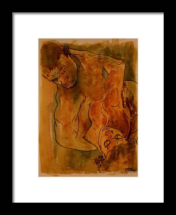 Love Framed Print featuring the painting The Lovers by Dan Earle