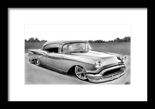Transportation Framed Print featuring the drawing The Low 50 by Lyle Brown