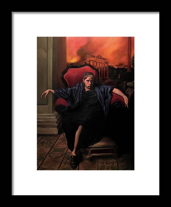 Figurative Art Framed Print featuring the painting The Madness Of Nero by Eric Armusik