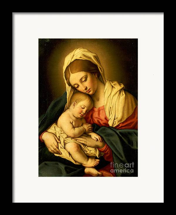 Mary Framed Print featuring the painting The Madonna And Child by Il Sassoferrato