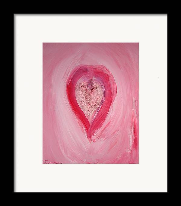 Abstract Framed Print featuring the mixed media The Magdelene by Emerald GreenForest