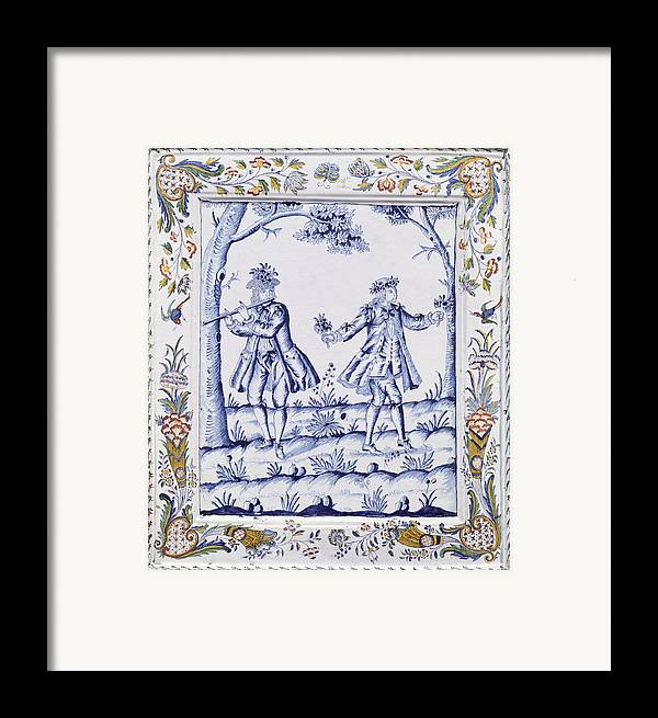 Plaque Framed Print featuring the painting The Magic Flute by French School