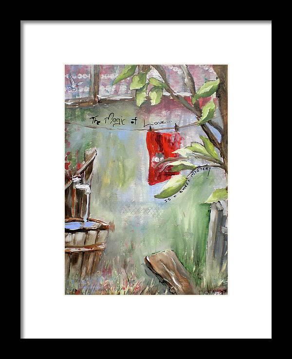 Love Framed Print featuring the painting The Magic Of Love, Gerdasmitart by Gerda Smit