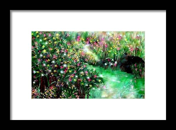 Garden Framed Print featuring the painting The Magical Garden by Sherri's - Of Palm Springs