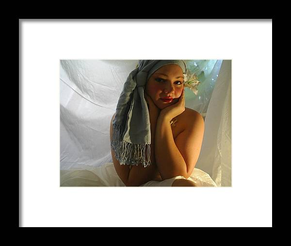 Face Framed Print featuring the photograph The Maiden by Scarlett Royal