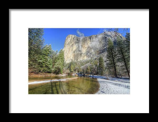 Winter Framed Print featuring the photograph The Majestic El Capitan Yosemite National Park by Wayne Moran