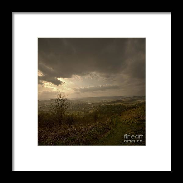 Malvern Framed Print featuring the photograph The Malvern Hills by Angel Ciesniarska