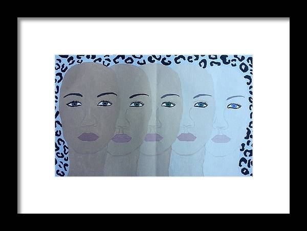 People Framed Print featuring the painting The Many Faces Of The World by Tatyana N