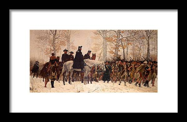 Painting Framed Print featuring the painting The March To Valley Forge by Mountain Dreams