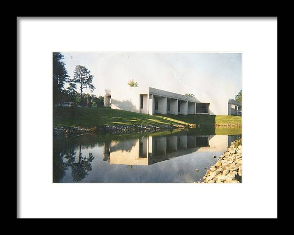 Archistructure Framed Print featuring the photograph The Mariner's Museum On Lake Maury by Anne-Elizabeth Whiteway