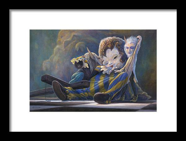 Leonard Filgate Framed Print featuring the painting The Marionette by Leonard Filgate