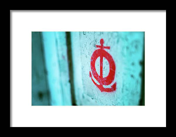 Macro Framed Print featuring the photograph The Mark Of The Lifeguard by Vincent Buckley
