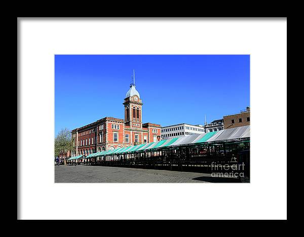 Market Framed Print featuring the photograph The Market Hall, Market Square, Chesterfield Town, Derbyshire by Dave Porter