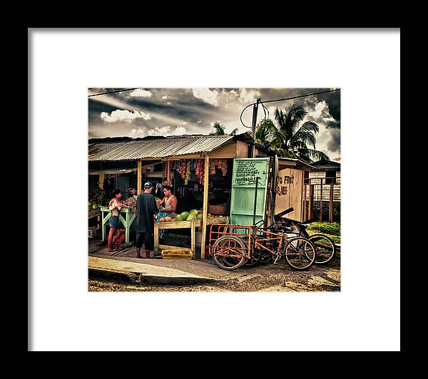 Belize Framed Print featuring the photograph The Market by Jessica Levant