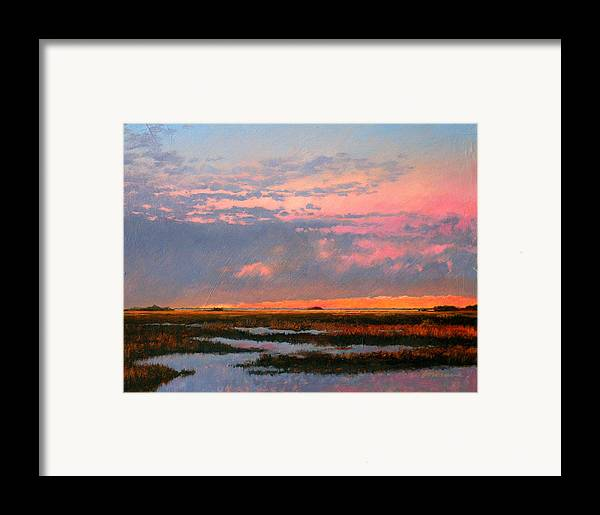 Marsh Framed Print featuring the painting The Marsh by Gary Gowans