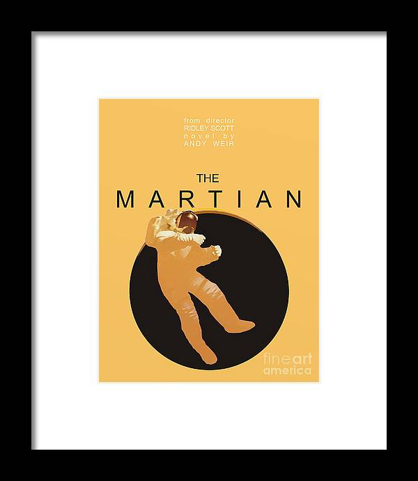 The Martian Framed Print featuring the digital art The Martian by Priscilla Wolfe