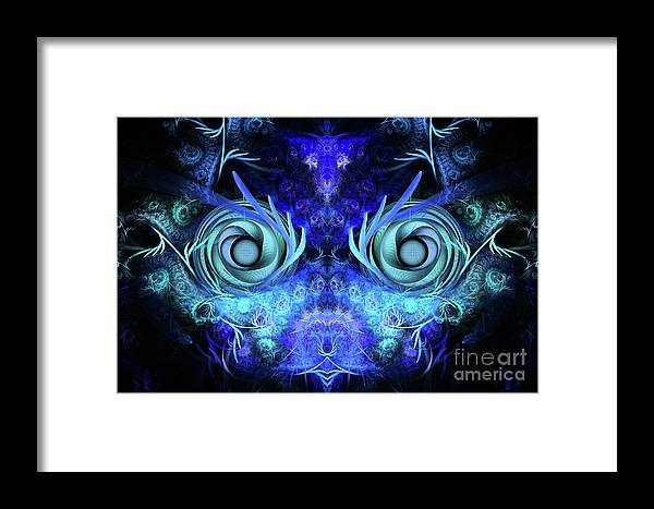 Mask Framed Print featuring the digital art The Mask by John Edwards