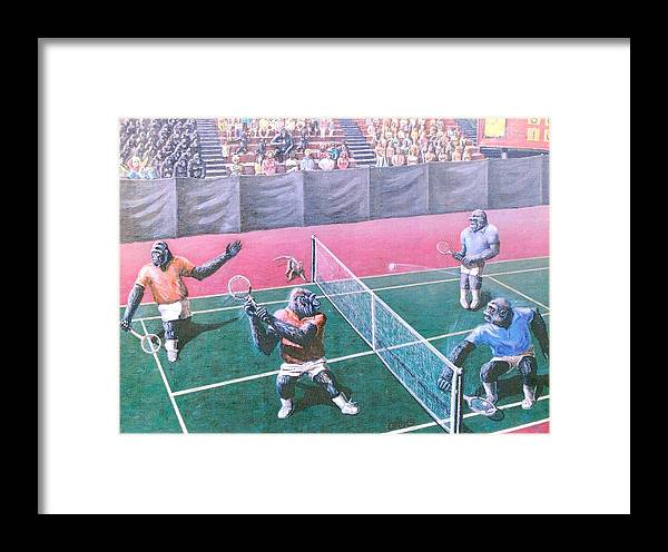Tennis Framed Print featuring the painting The Match by George I Perez