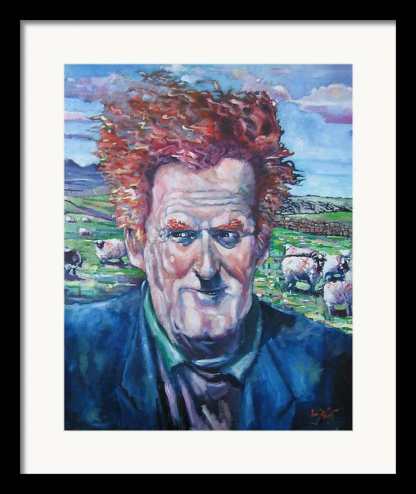 Ireland Framed Print featuring the painting The Mayo Shepard by Kevin McKrell